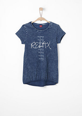 T-shirt with a washed finish from s.Oliver