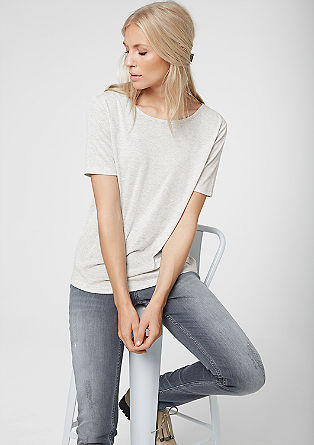 T-shirt with a zip at the nape of the neck from s.Oliver