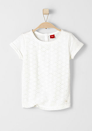T-shirt with and embroidered front from s.Oliver