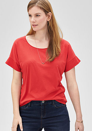 T-shirt with batwing sleeves from s.Oliver
