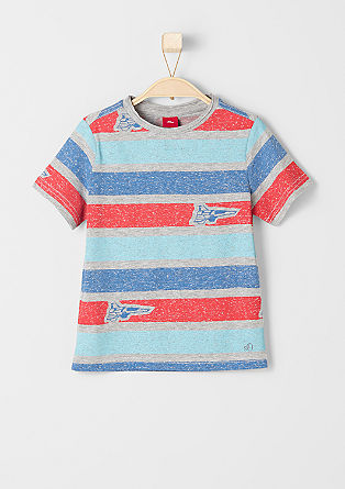 T-shirt with block stripes from s.Oliver