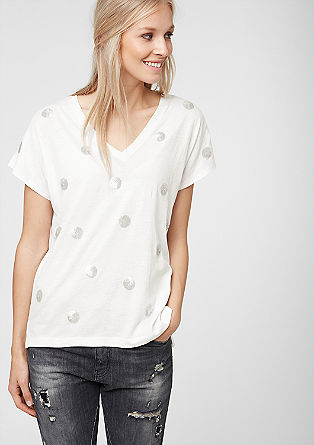 T-shirt with decorative sequins from s.Oliver