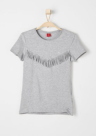 T-shirt with fringing from s.Oliver