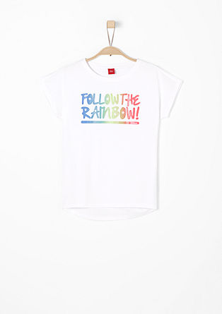 T-shirt with glitter lettering from s.Oliver