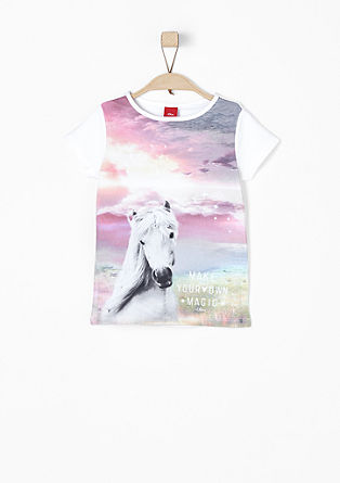 T-shirt with horse print from s.Oliver