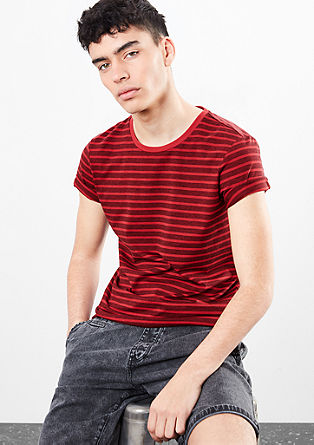 T-shirt with melange stripes from s.Oliver