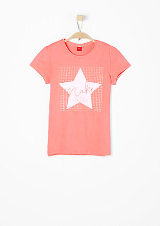 T-shirt with neon accents from s.Oliver
