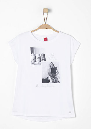 T-shirt with photo prints from s.Oliver