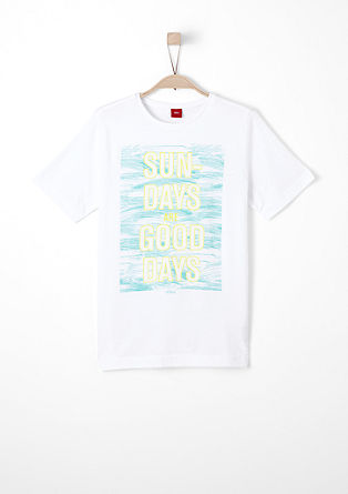 T-shirt with printed lettering from s.Oliver