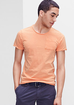 T-shirt with rolled hem edges from s.Oliver