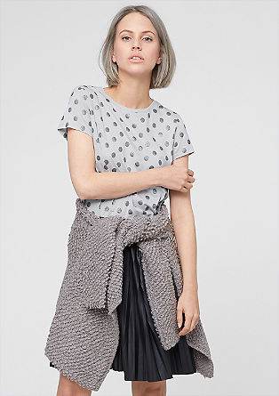 T-shirt with sparkly polka dots from s.Oliver