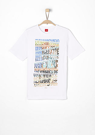 T-shirt with statement lettering from s.Oliver