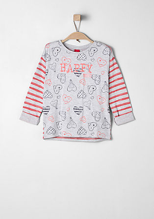 T-shirt with stripes and hearts from s.Oliver