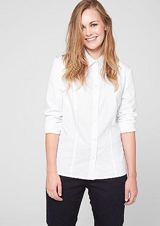 Taillierte Popeline-Bluse