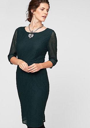Tailliertes Kleid aus Spitze