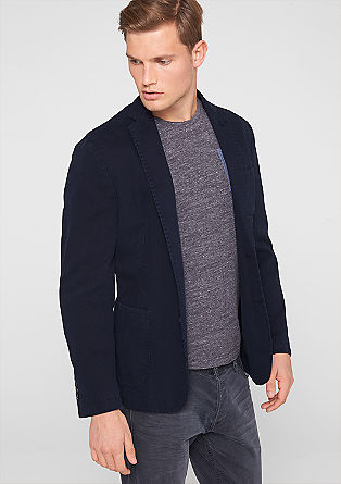 Tailored jacket with twill texture from s.Oliver