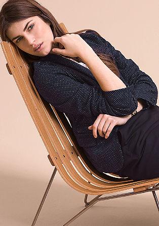 Tajliran suknjič z žakardskim vzorcem