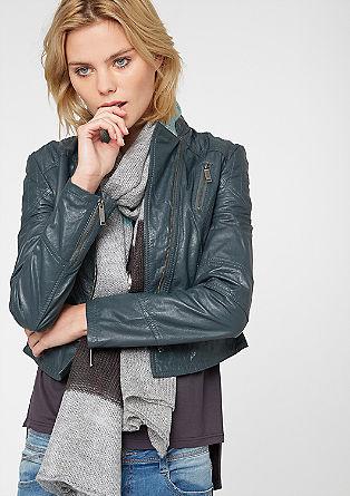 Tajlirana usnjena jakna