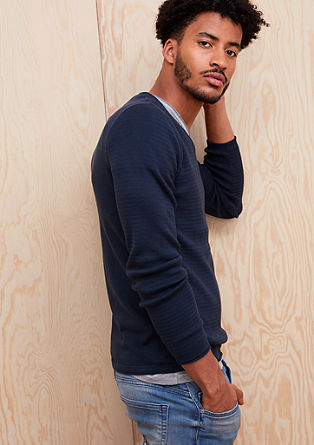 Tanek pulover iz bombaža
