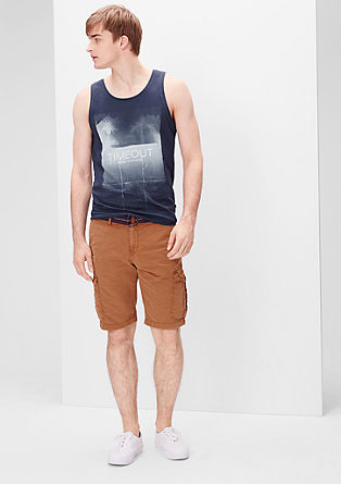 Tank top with a large photo print on the front from s.Oliver