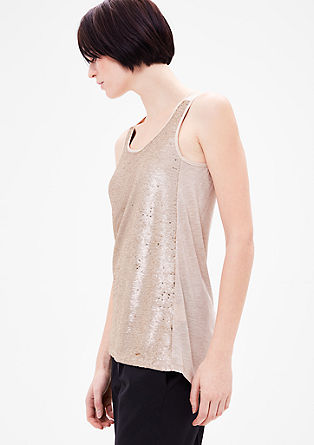 Tank top with a sequin front from s.Oliver