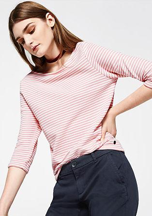 Tanko črtast sweatshirt pulover