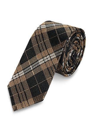 Tartan silk tie from s.Oliver