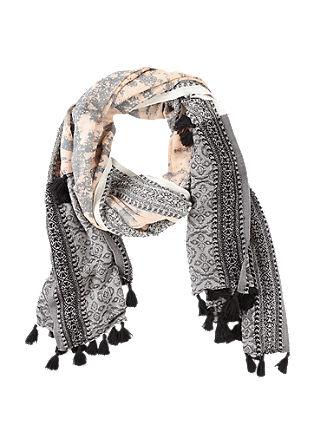 Tassel scarf in blended linen from s.Oliver