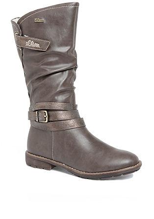 Tex-laarzen met sierriempjes