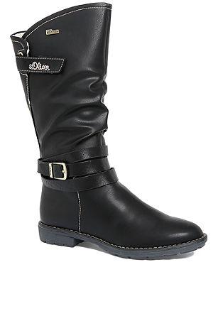 Tex-Stiefel mit Zierriemen