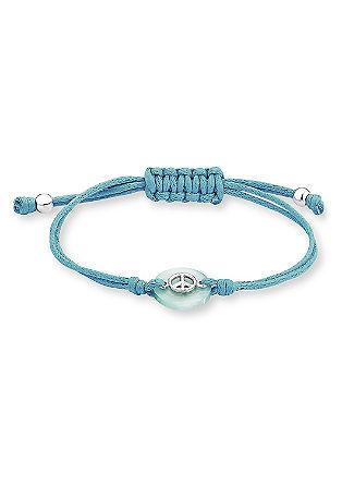 Textil-Armband mit Silber-Details