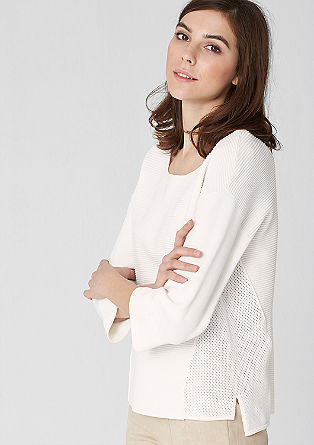Texture mix jumper from s.Oliver