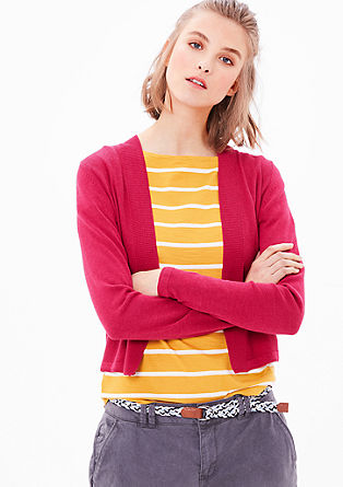 Textured knit cardigan from s.Oliver