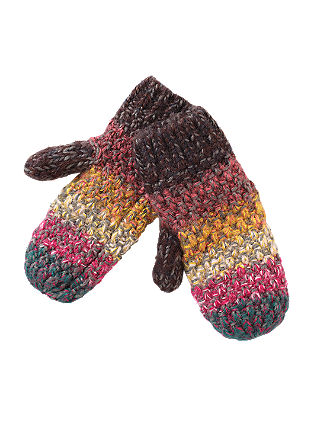 Textured knit mittens from s.Oliver
