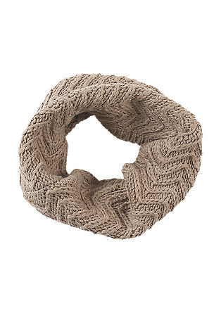 Textured knit snood from s.Oliver