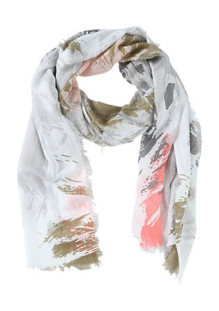 Textured scarf with a spray effect from s.Oliver