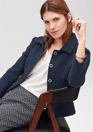 Textured short blazer from s.Oliver