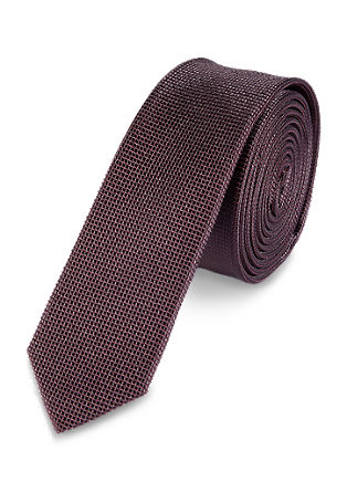 Textured silk tie from s.Oliver