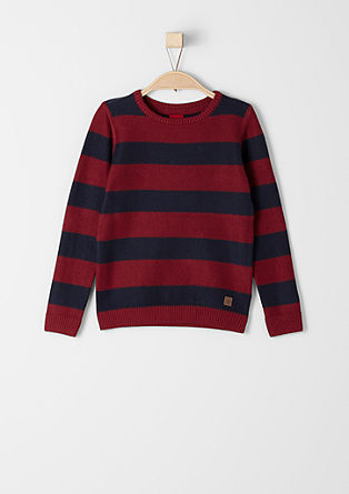 Textured striped jumper from s.Oliver