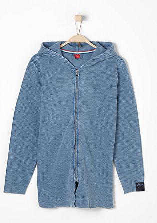 Textured vintage sweatshirt jacket from s.Oliver