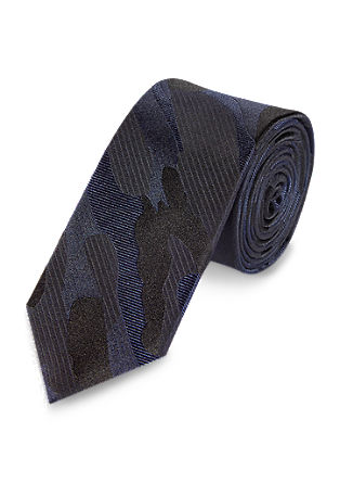 Tie with a camouflage pattern from s.Oliver