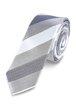 Tie with pale striped pattern from s.Oliver