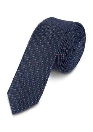 Tie with striped textured pattern from s.Oliver
