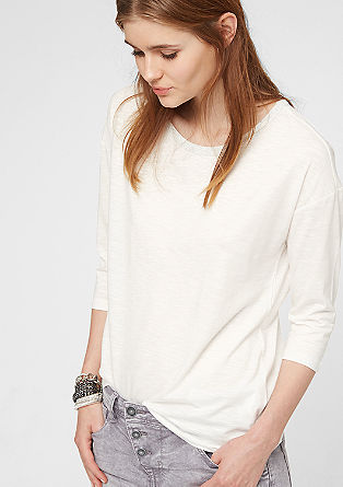 Top with 3/4-length sleeves and a glamorous collar from s.Oliver