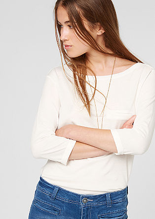 Top with 3/4-length sleeves from s.Oliver