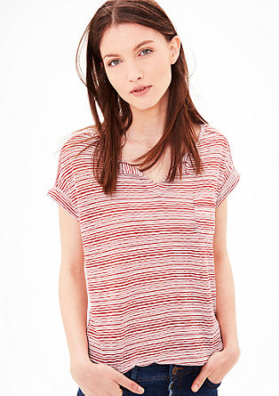 Top with a striped texture from s.Oliver