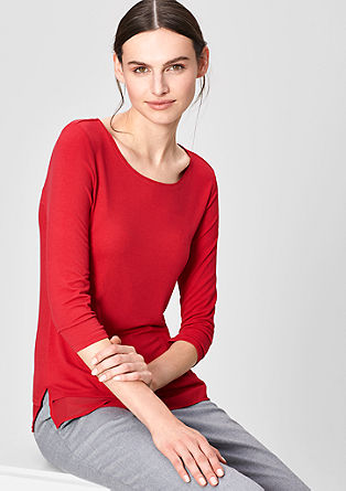 Top with chiffon details from s.Oliver