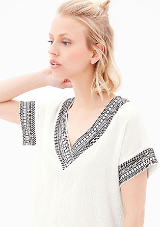 Top with tribal embroidery from s.Oliver