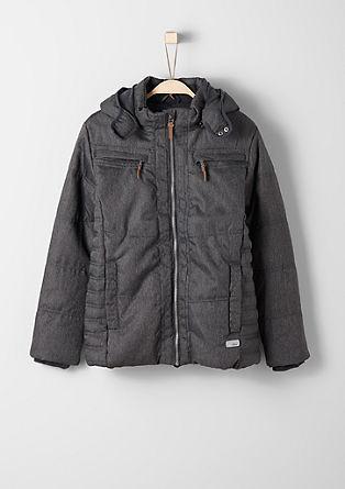 Topla funkcijska jakna v videzu jeansa