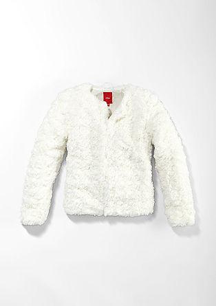 Topla jakna v videzu ovčjega krzna
